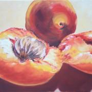 \'Aprikosen\' - 30x38 cm, Öl auf Leinwand