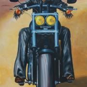 \'Biker\' - 95x170cm - Acryl auf Leinwand
