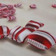 \'Candy\' - 20x20 cm, Öl auf Hartfaserblock