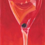 'Cocktail' - 100x30, Öl auf Leinwand