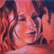 'Deep Love' - 36x45 cm - Acryl auf Leinwand