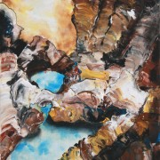 \'Deepness 1\' - 30x40 cm - Acryl auf Leinwand