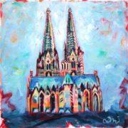 'Dom 1' - 30x30, Acryl auf Leinwand