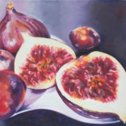 'Food 10 Figs' - 100x120, Öl auf Leinwand