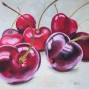 'Food 11 Cherries' - 100x120, Öl auf Leinwand