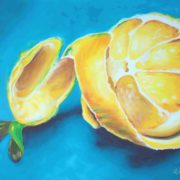 'Food 12 Lemon' - 100x120, Öl auf Leinwand