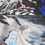 'Gletscher: 2019' - 120x70 cm - Acryl auf Leinwand