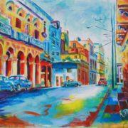 'Havanna 2' - 50x70, Acryl auf Leinwand
