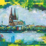 'Köln' - 60x100, Acryl auf Leinwand