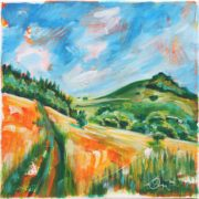 'Landscape 1' - 30x30, Acryl auf Leinwand