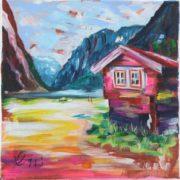 'Landscape 2' - 30x30, Acryl auf Leinwand