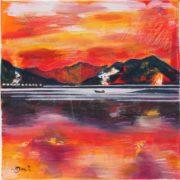 'Landscape 3' - 30x30, Acryl auf Leinwand