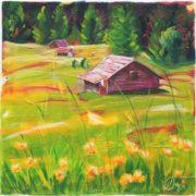 'Landscape 4' - 30x30, Acryl auf Leinwand