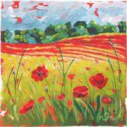 'Landscape 5' - 30x30, Acryl auf Leinwand
