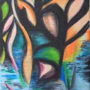 'Landscape 6' - 40x20 cm - Acryl auf Leinwand