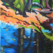 'Landscape 7' - 40x20 cm - Acryl auf Leinwand