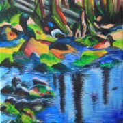 'Landscape 8' - 40x20 cm - Acryl auf Leinwand