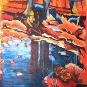 'Landscape 9' - 80x50 cm - Acryl auf Leinwand