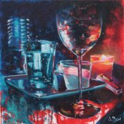 'Nacht' - 45x45, Acryl auf Leinwand