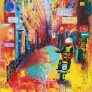 'Neapel' - 80x100, Acryl auf Leinwand