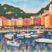 'Portofino' - 50x70, Acryl auf Leinwand