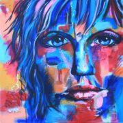 'Portrait1' - 80x80 cm - Acryl auf Leinwand