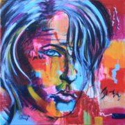 'Portrait2' - 45x45 cm - Acryl auf Leinwand