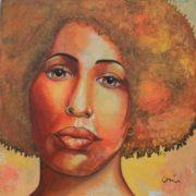 'Portrait3' - 100x100 cm - Acryl auf Leinwand