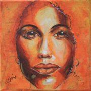 'Portrait4' - 25x25 cm - Acryl auf Leinwand