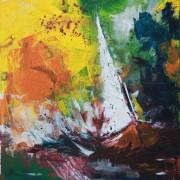 \'Sailing 1\' - 50x70 cm, Acryl auf Leinwand