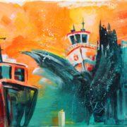 'Seefahrt' - 30x40, Acryl auf Leinwand