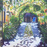 'Summergarden' - 70x80 cm - Acryl auf Leinwand