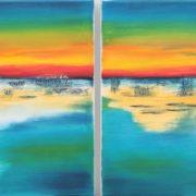 'Sunrise' - 30x30, Öl auf Leinwand