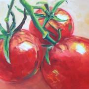 \'Tomaten 1\' - 24x30 cm, Öl auf Leinwand
