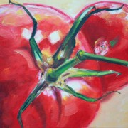 \'Tomaten 2\' - 24x30 cm, Öl auf Leinwand