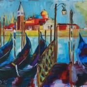 \'Venedig\' - 60x80 cm, Acryl auf Leinwand