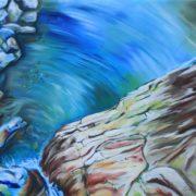 'Verzasca' - 80x100 cm - Acryl auf Leinwand